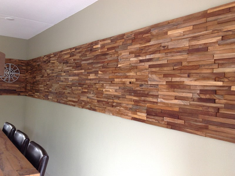 Decoratie Keuken Muur : ? ? 3d wand houten wandpaneel houtstrips sloophout sloophouten