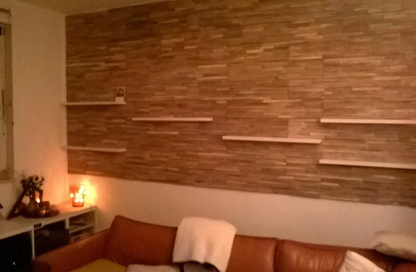 Wandbekleding Woonkamer Hout ~ Interieur van de dag « liever ...