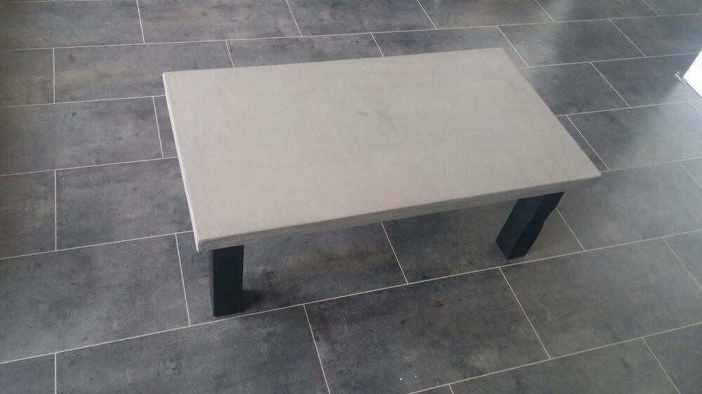 Betontafel geheel op maat gemaakt woodindustries voor unieke tafels - Salon beton cire ...
