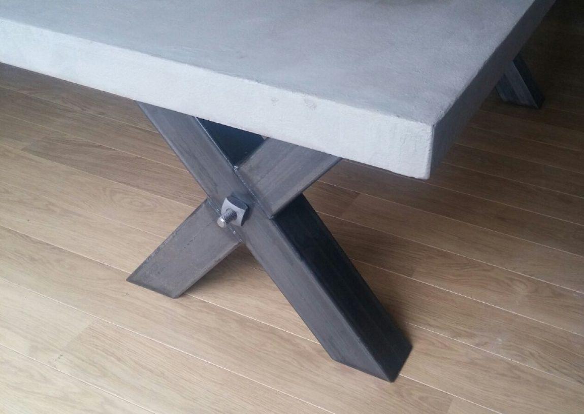 Beton Tafel Buiten : Bol beliani taranto tuintafel beton grijs cm