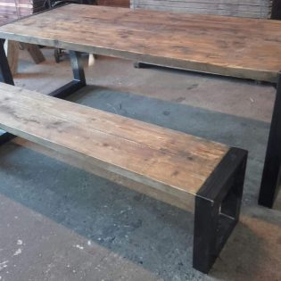 industriele robuuste eettafel roots