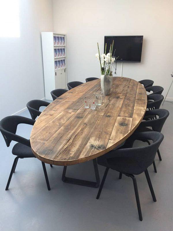 ovale robuuste tafel 400x170