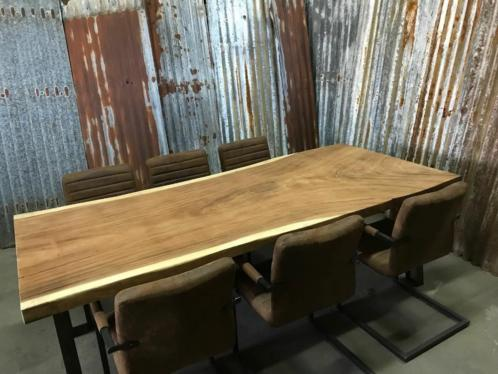 Teak Tafels Haarlem : Teak suar boomstam tafelblad onbewerkt woodindustries