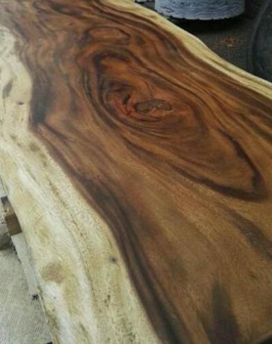 Teak Houten Bladen.Suar Boomstam Tafelblad Onbewerkt Woodindustries Nl