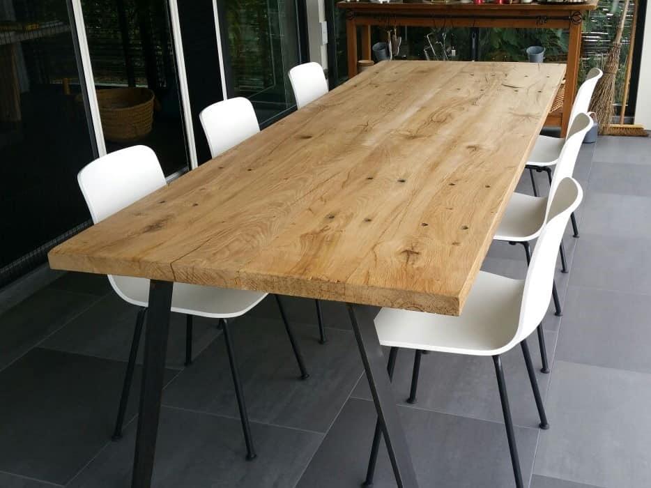Ronde Eiken Houten Tafel.Eiken Houten Tafels Met De Hand Gemaakt Woodindustries