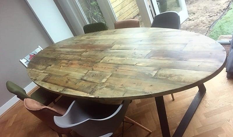 Beroemd Ovale tafel reclaimed wood by Woodindustries - unieke robuuste tafels #BQ83
