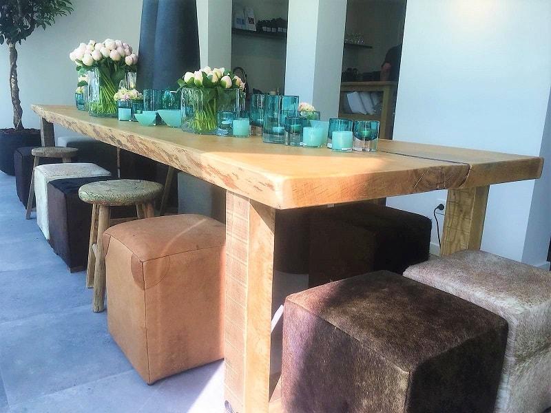Tafel Van Boomstam : Boomstam tafelblad grote voorraad en advies op maat woodindustries