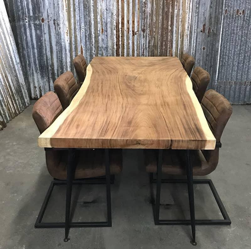 Houten Tafelblad Boomstam.Suar Boomstam Tafelblad Onbewerkt Woodindustries Nl