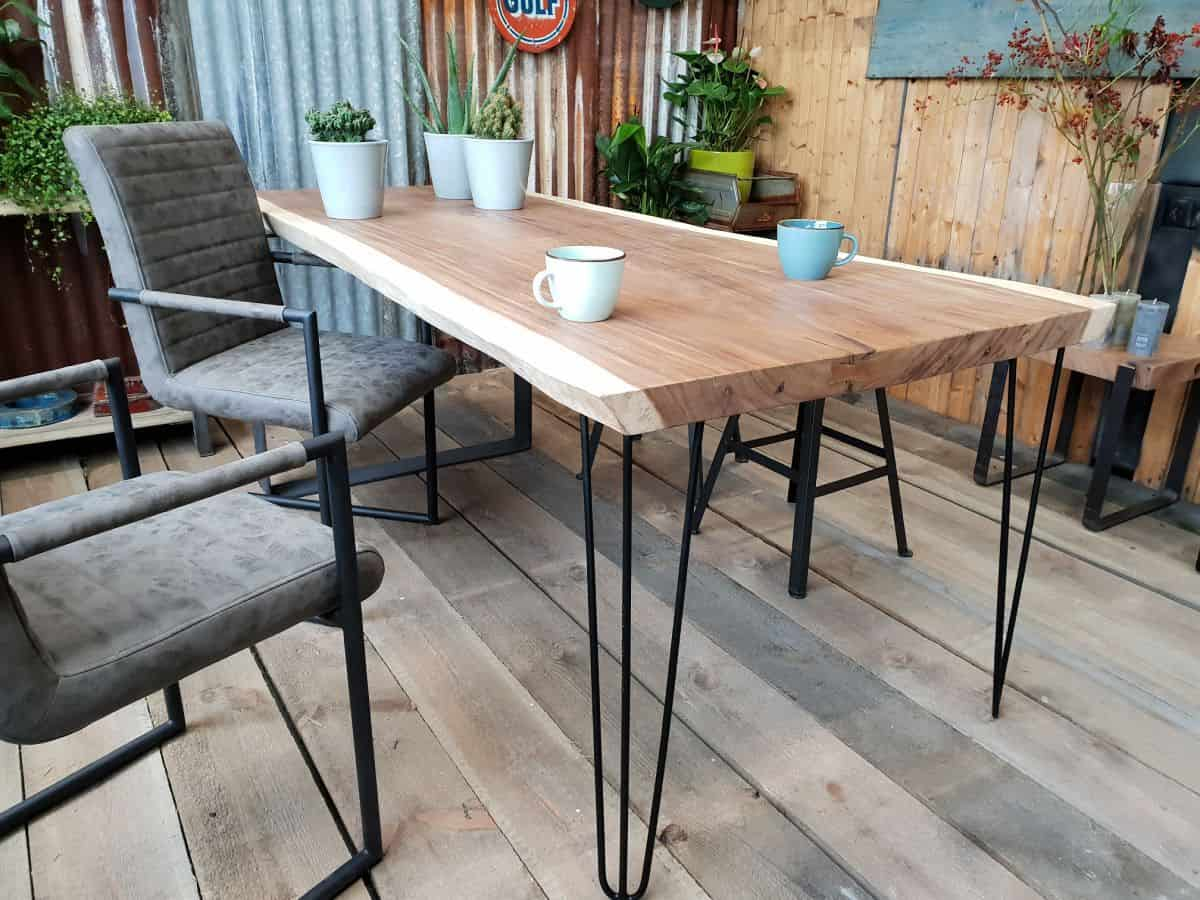 Boomstamtafel Met Stalen Onderstel.Suar Boomstamtafel Eindhoven Woodindustries Nl
