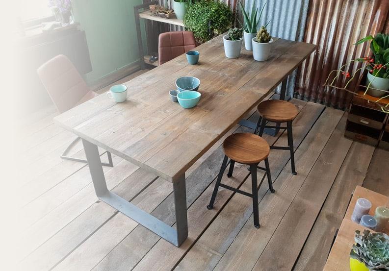 Langwerpige Houten Salontafel.Houten Tafels En Boomstamtafels Exclusief Gemaakt Woodindustries