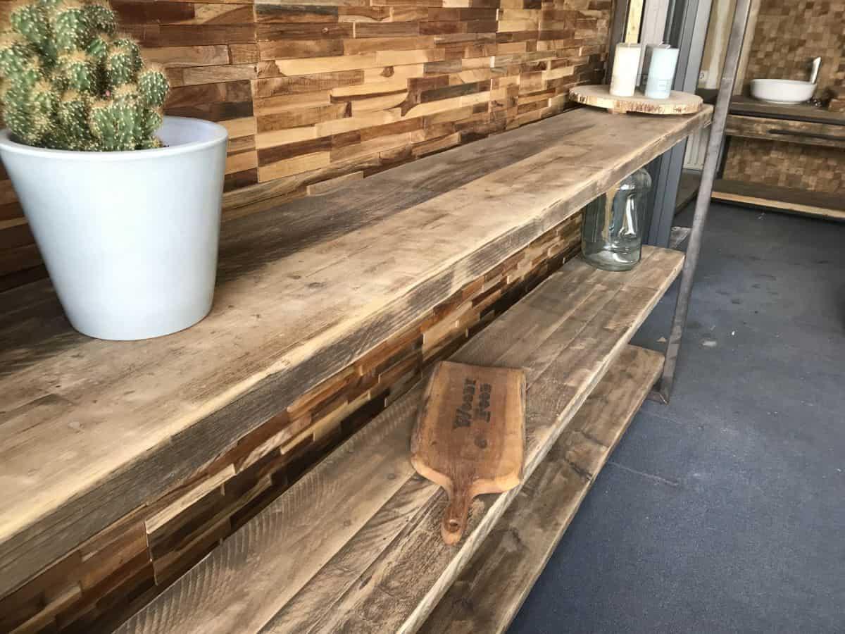 Goede Industry kast oud gebinten 150 cm - Woodindustries.nl ZH-18
