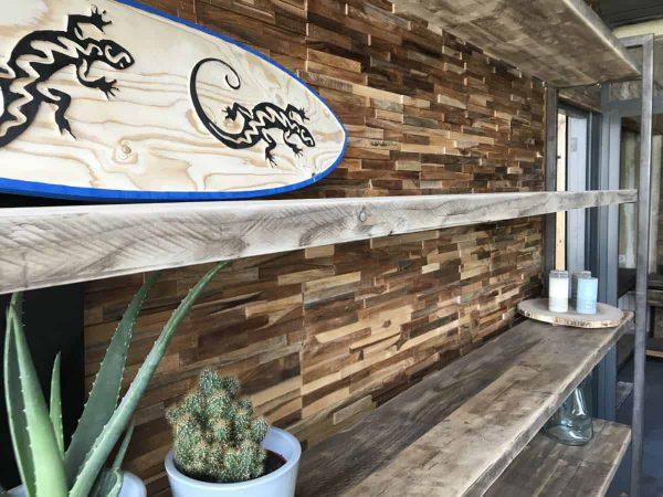 Oude gebinten planken kast 150 cm
