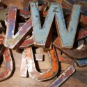Metalen letter A