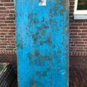 Industriële metalen wandbekleding blauw