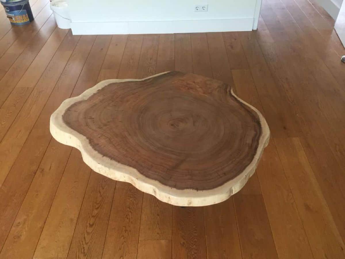 Ronde boomstam 80cm doorsnede for Salon tafel rond