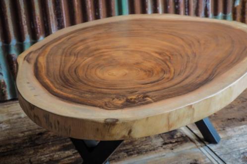 Ronde Tafel Boomstam.Ronde Boomstamtafel 60cm Doorsnede Woodindustries Nl