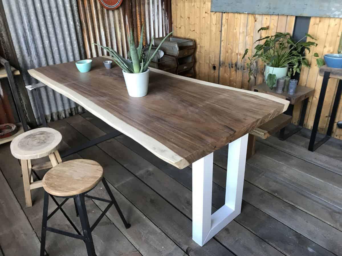 Teakhouten Boomstam Tafel.Teak Boomstamtafel Amsterdam Woodindustries Nl Voor Maatwerk