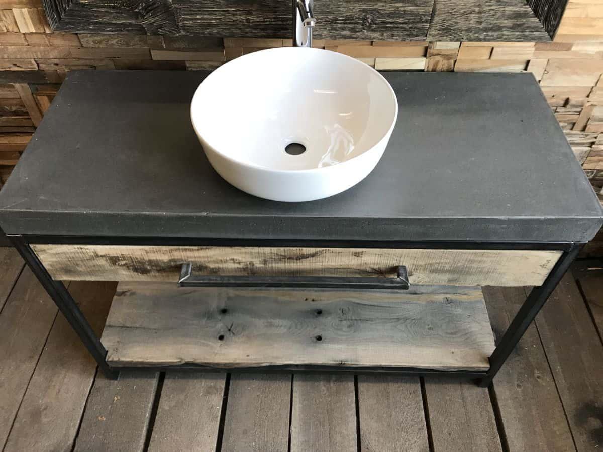 Eiken robuust badkamermeubel cm woodindustries