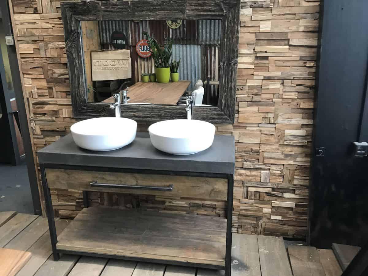 Betonnen badkamermeubel cm met metalen frame woodindustries
