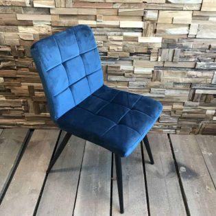 Velvet stoel blauw