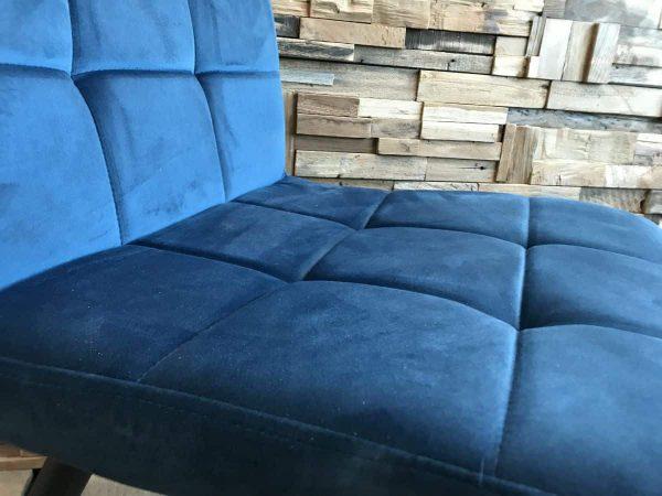 Velvet blauw stoel