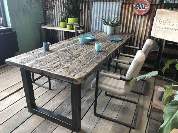 wagonhouten tafel amsterdam