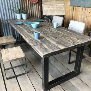Wagonhouten tafel stoere tafel