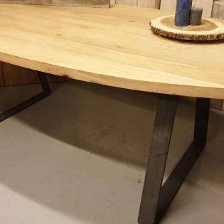 Ronde Tafelbladen Horeca.Industriele Ronde Eiken Tafel Steenwijk Woodindustries Nl