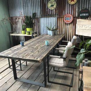 Industriële wagonhouten tafel 500cm - Gouda