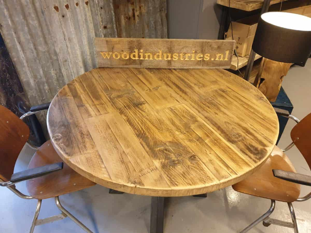 Ronde Tafel Den Bosch.Industriele Ronde Oud Gebinten Tafel Den Bosch