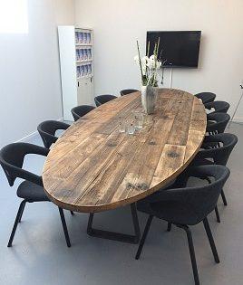 Robuuste vergadertafel ovaal 5 meter (16-18 personen)