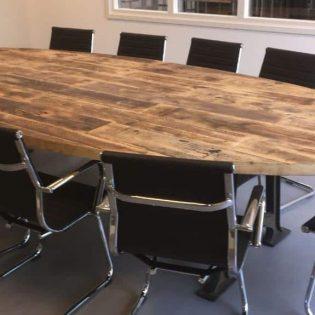 Robuuste vergadertafel ovaal 3 meter (8-10 personen)