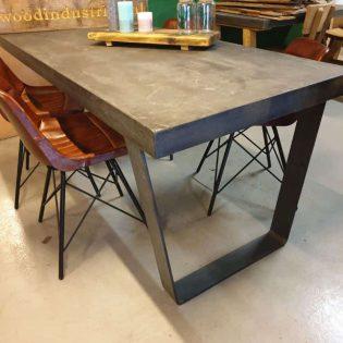 Robuuste betontafel antraciet Trapezium