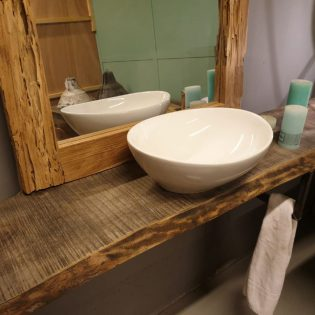 barnwood badkamermeubel 40 cm