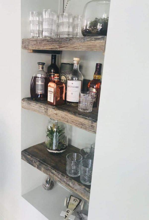 Wrakhouten plank 20 cm