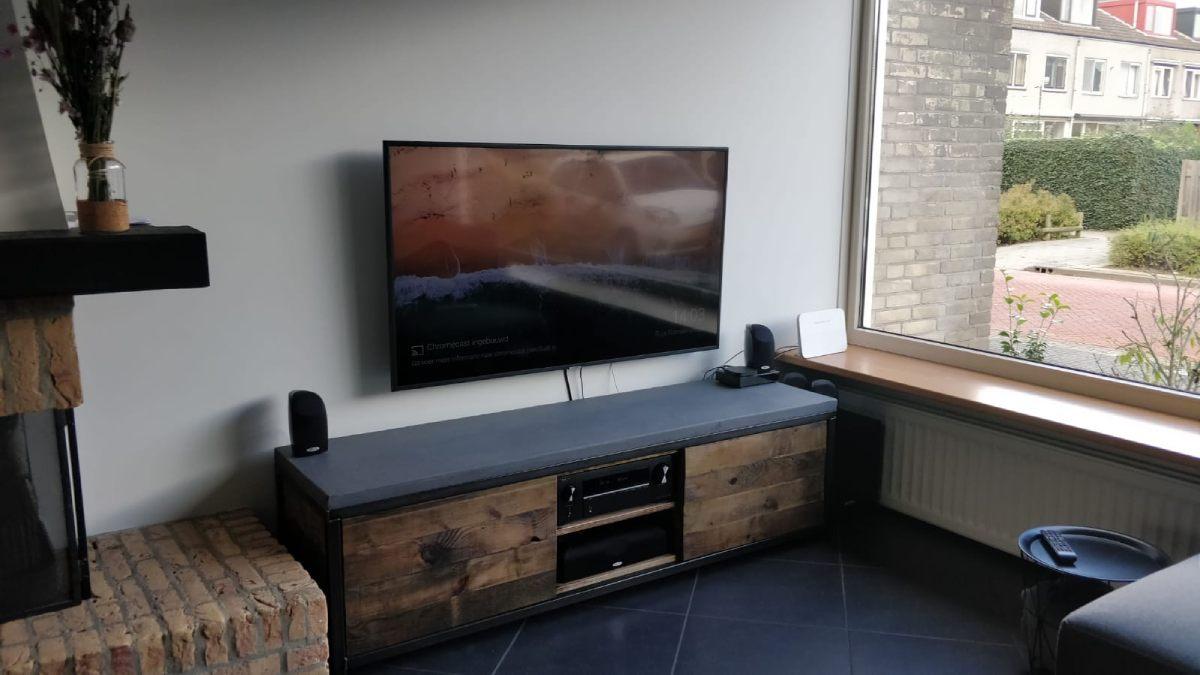 Beton Tv Meubel.Industrieel Betonnen Tv Meubel Woodindustries Nl