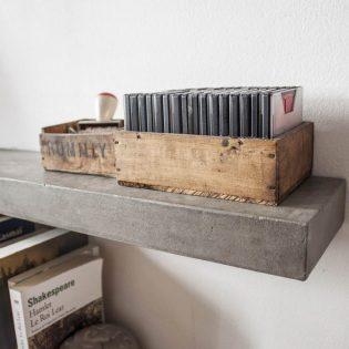 Wandplank beton 30 cm diep - 7 cm dik