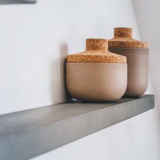 Wandplank beton 60 cm diep - 10 cm dik