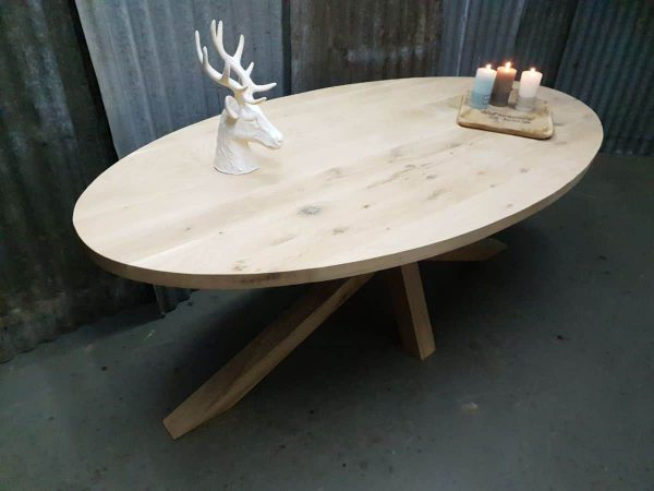 Eiken tafel ovaal Den Bosch