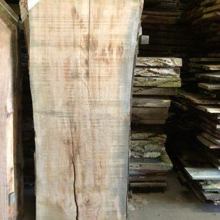 Eiken boomstam tafeltop LE010