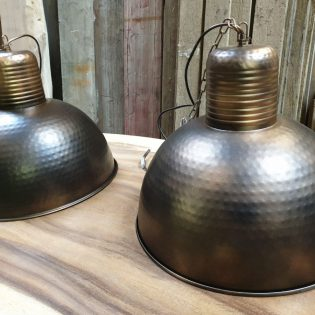 Industriële hanglampen - Brons