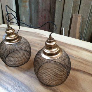 Unieke hanglampen goud