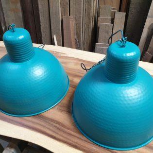Industriële hanglampen - Petrol blue