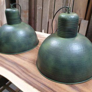 Industriële hanglampen - army green